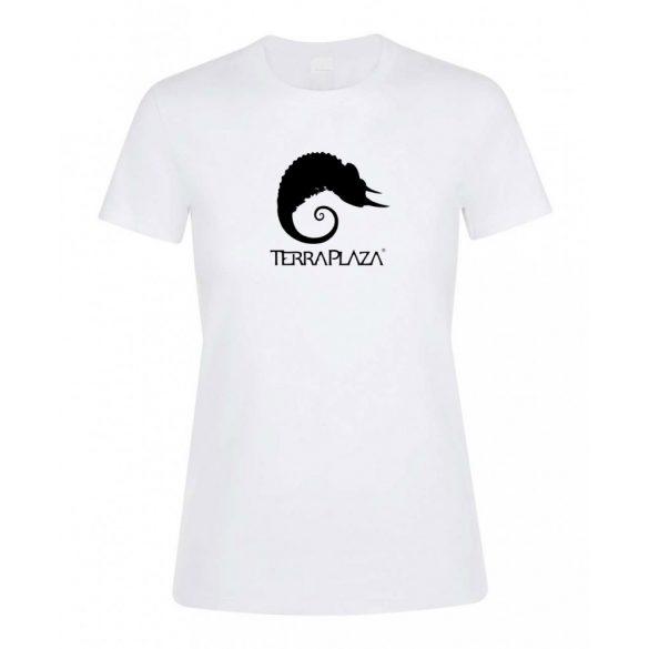 TerraPlaza simple logo fehér női póló
