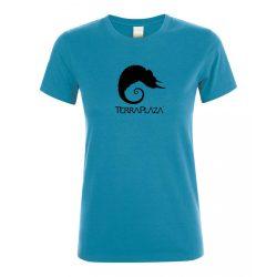 TerraPlaza simple black logo aqua női póló