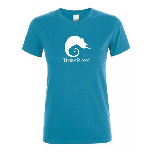 TerraPlaza simple logo aqua női póló