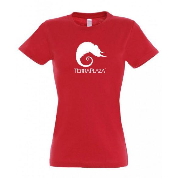 TerraPlaza simple logo red női póló