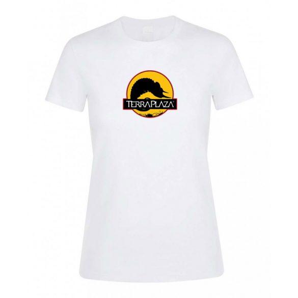 2019 október TerraPlaza logo fehér női póló
