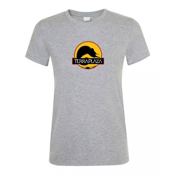2019 október TerraPlaza logo grey melange női póló