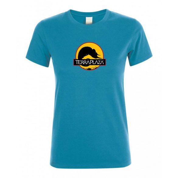 2019 október TerraPlaza logo aqua női póló