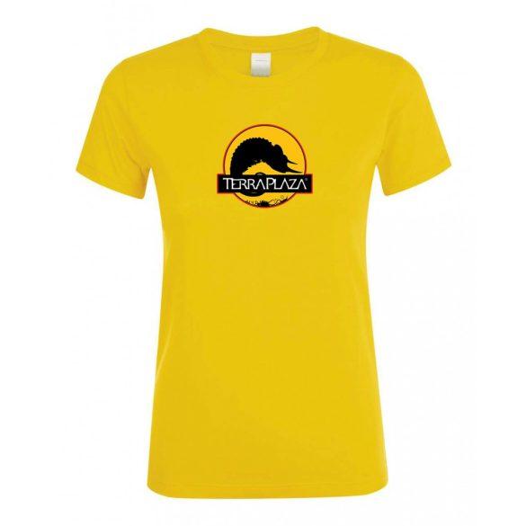 2019 október TerraPlaza logo gold női póló