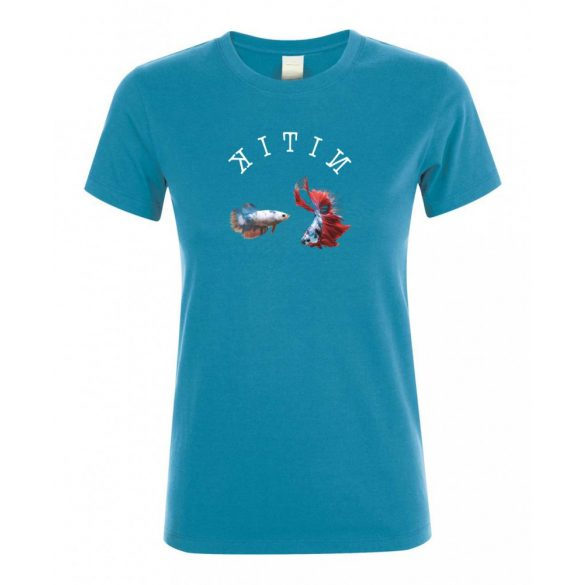 Betta splendens aqua női póló