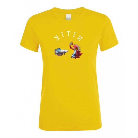 Betta splendens gold női póló