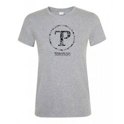 TerraPlaza kör logo grey melange női póló