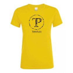 TerraPlaza kör logo gold női póló