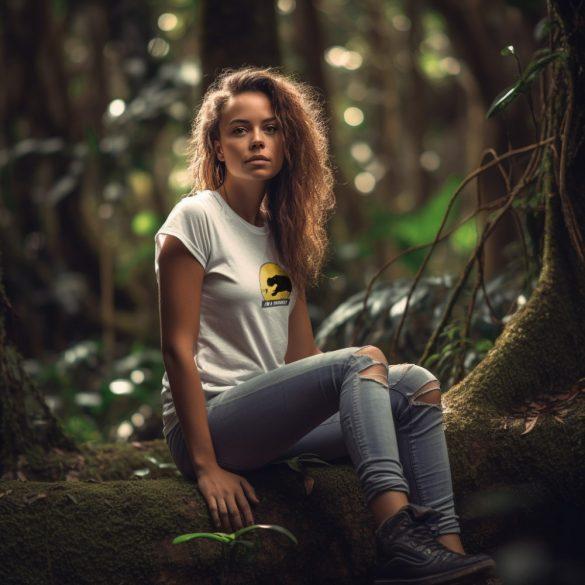 T-rex terrarista white plusz női póló