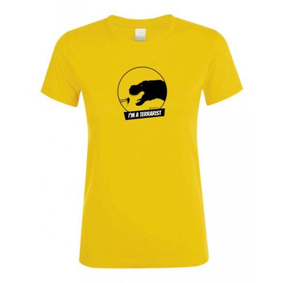 T-rex terrarista gold női póló