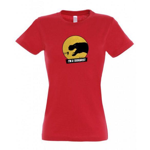 T-rex terrarista red női póló