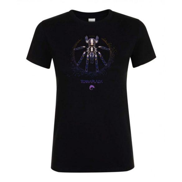 Poecilotheria metallica XXX7 purple logo black női póló