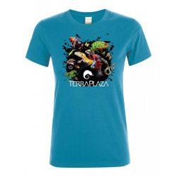 XXX3 montázs  aqua női póló