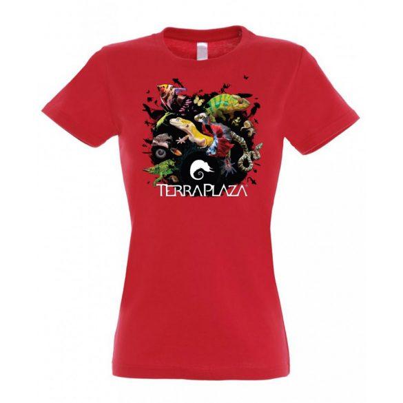 XXX3 montázs red női póló