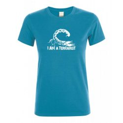 I'm a terrarist sorpion aqua női póló