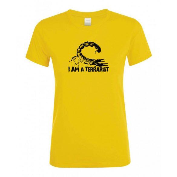 I'm a terrarist sorpion gold női póló
