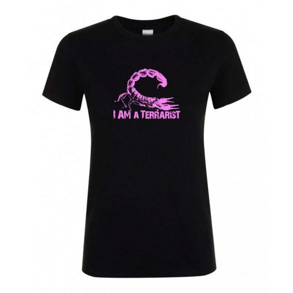 I'm a terrarist sorpion purple black női póló