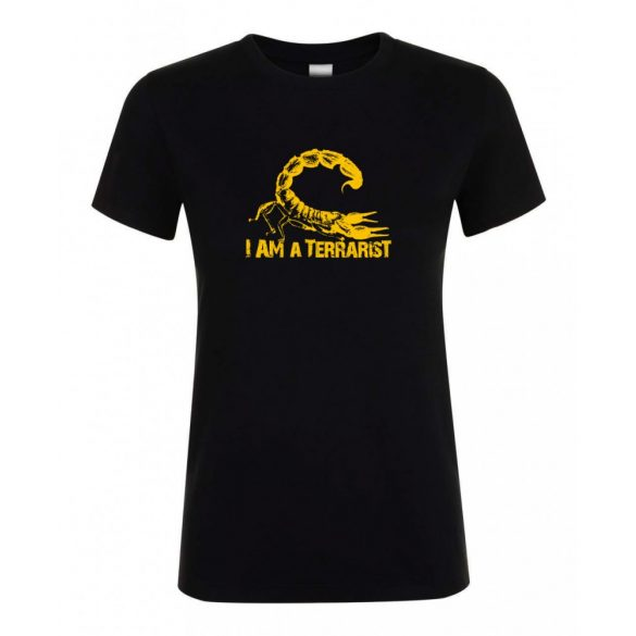 I'm a terrarist sorpion yellow black női póló
