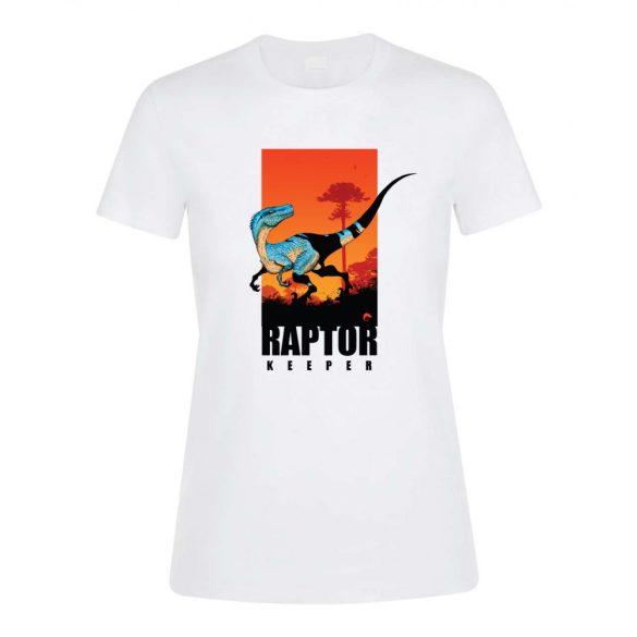 Raptor keeper white női póló