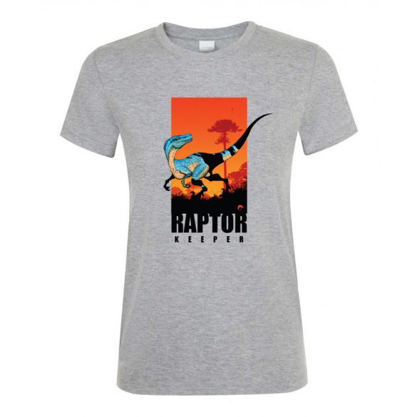 Raptor keeper grey melange női póló