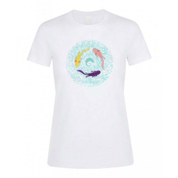 Axolotl white női póló