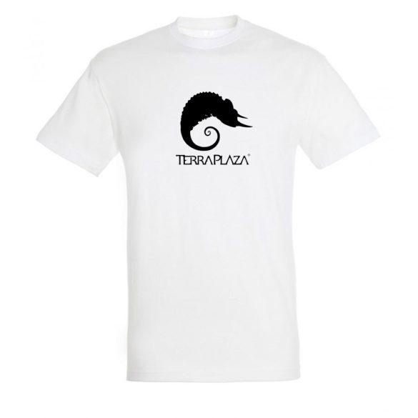 TerraPlaza simple black logo fehér férfi póló