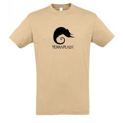 TerraPlaza simple black logo sand férfi póló