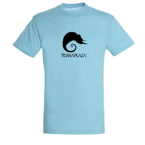 TerraPlaza simple black logo atoll blue férfi póló