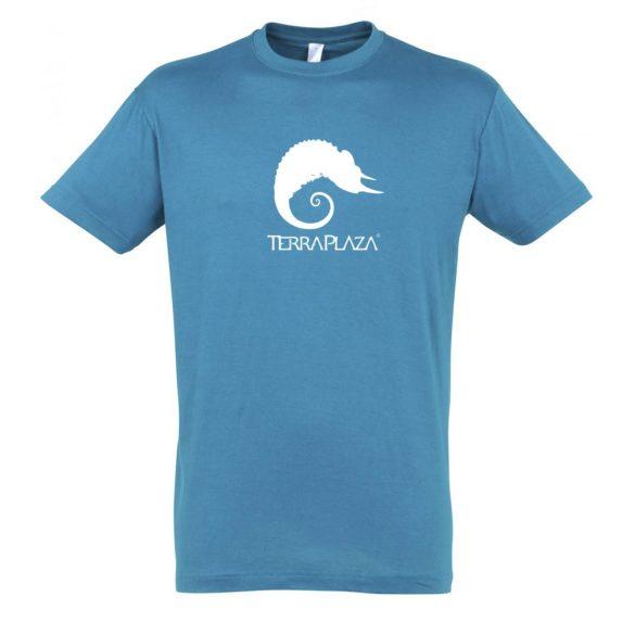 TerraPlaza simple logo aqua férfi póló