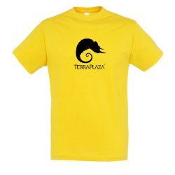 TerraPlaza simple black logo gold férfi póló