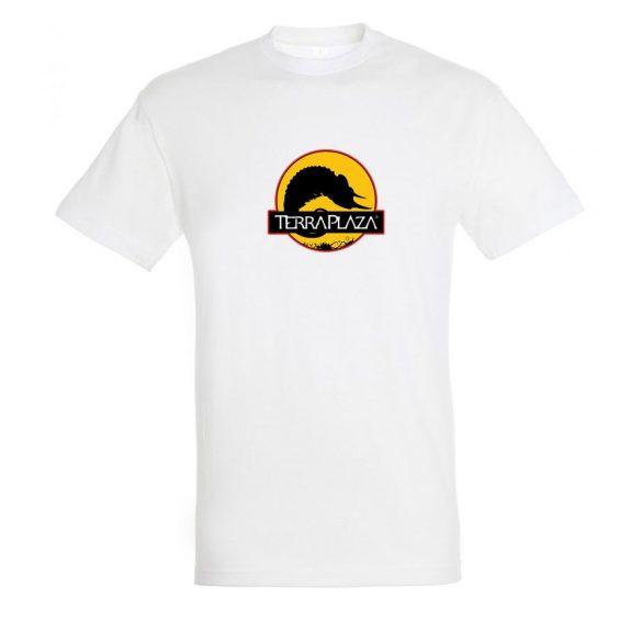 2019 október TerraPlaza logo fehér férfi póló