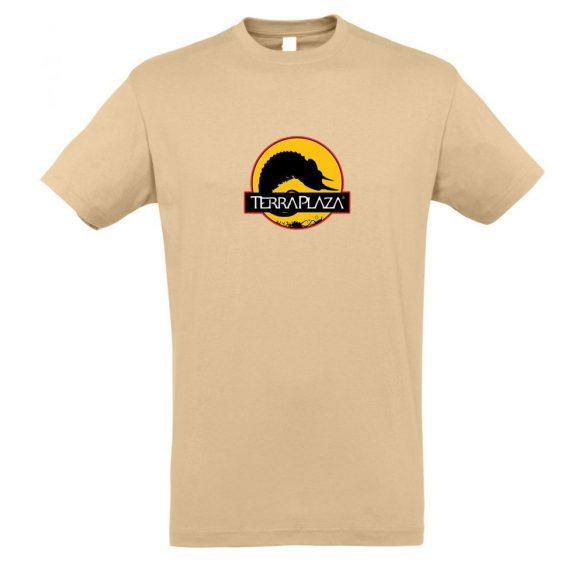 2019 október TerraPlaza logo sand férfi póló