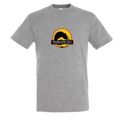 2019 október TerraPlaza logo grey melange férfi póló