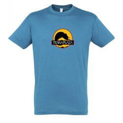 2019 október TerraPlaza logo aqua férfi póló