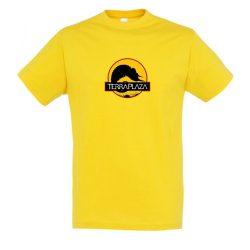 2019 október TerraPlaza logo gold férfi póló