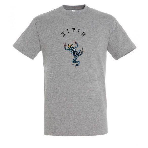 Dendrobates grey melange férfi póló