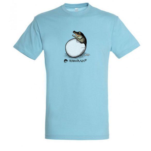 Crocodilia sp. baby atoll blue férfi póló
