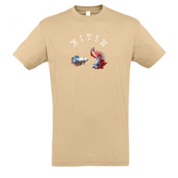 Betta splendens sand férfi póló