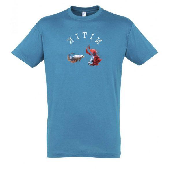 Betta splendens aqua férfi póló