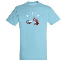 Betta splendens atoll blue férfi póló