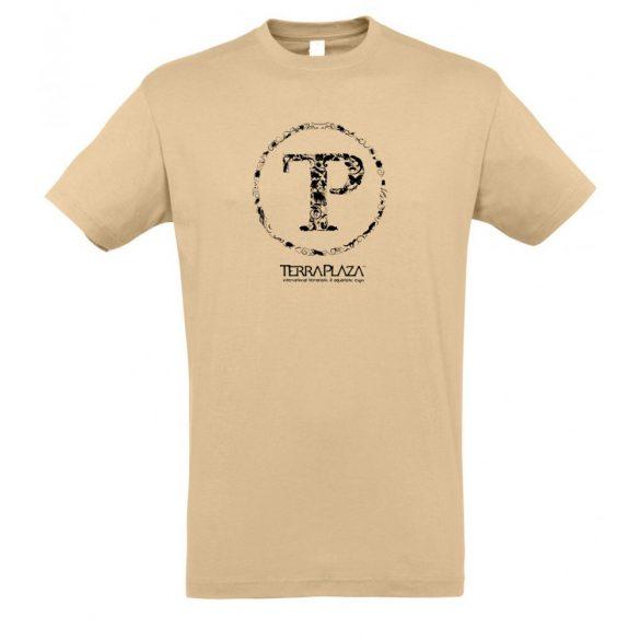 TerraPlaza kör logo sand férfi póló