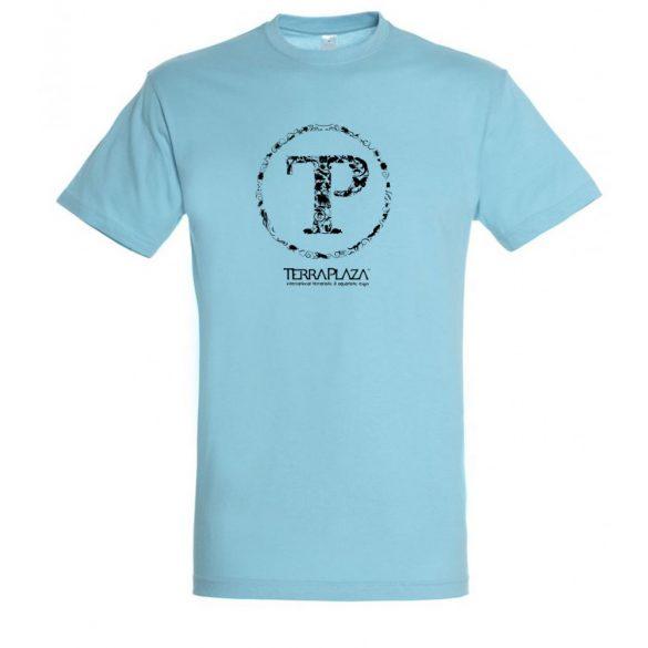 TerraPlaza kör logo atoll blue férfi póló