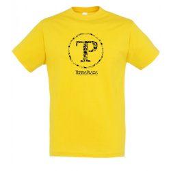TerraPlaza kör logo gold férfi póló