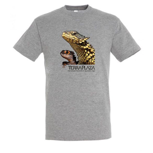 Dragons grey melange férfi póló