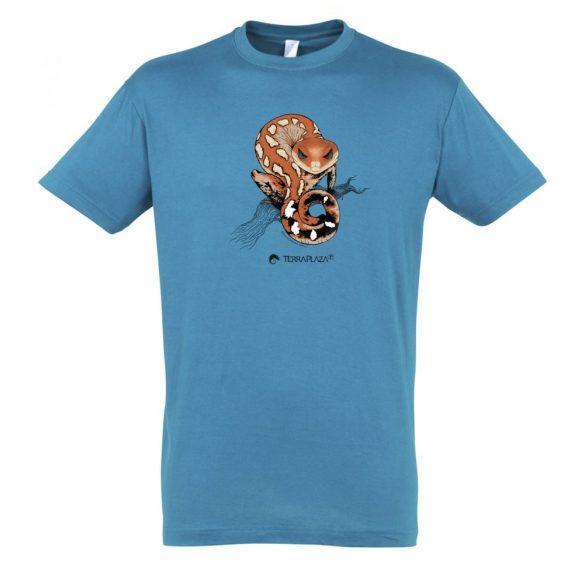Aeluroscalabotes felinus aqua férfi póló