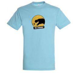 T-rex terrarista atoll blue férfi póló