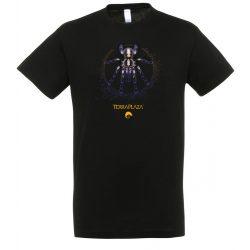 Poecilotheria metallica XXX7 yellow logo black férfi póló