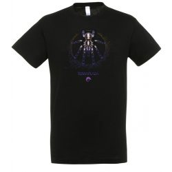 Poecilotheria metallica XXX7 purple logo black férfi póló