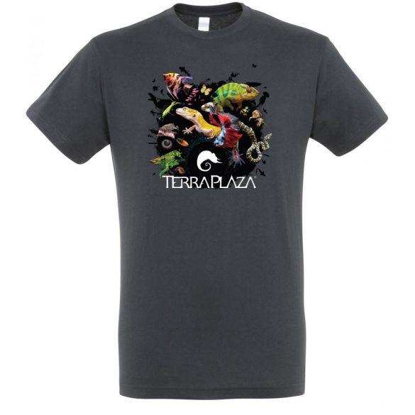 XXX3 montázs mouse grey férfi póló