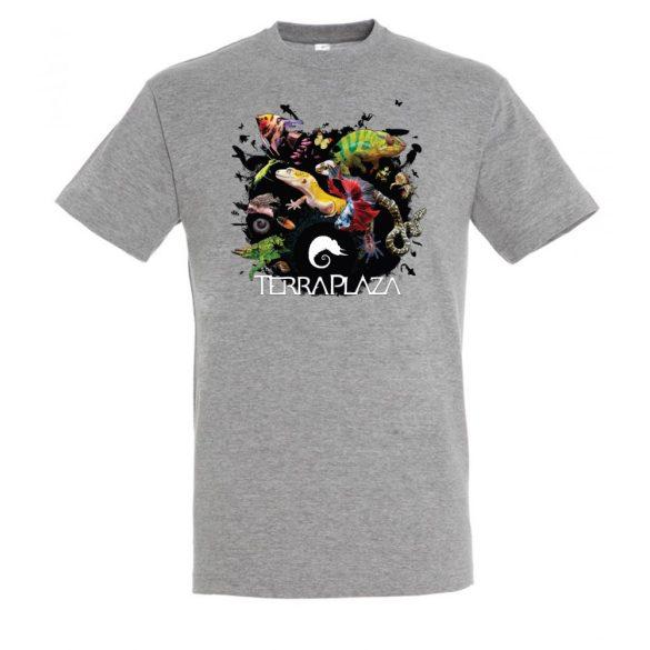 XXX3 montázs grey melange férfi póló